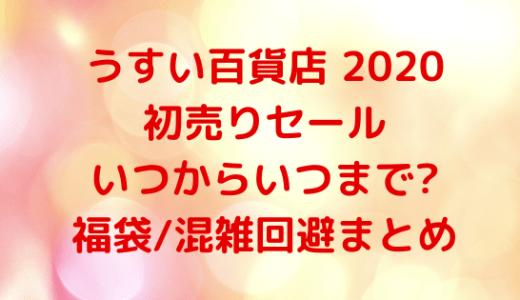 うすい百貨店2020初売りセール|いつからいつまで?福袋/混雑回避まとめ