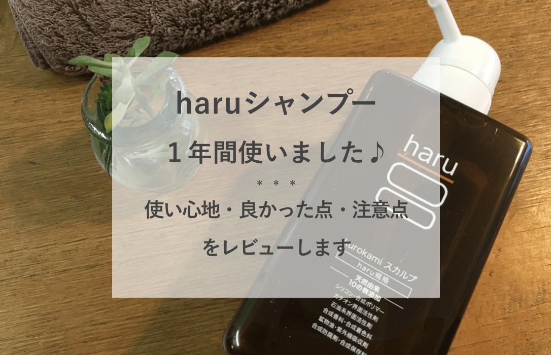 haruシャンプー 頭皮湿疹 体験談 ブログ