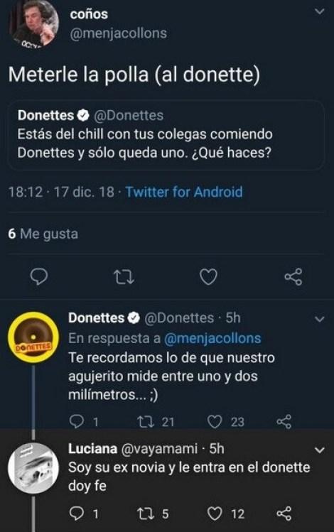 polla Donetes agujero twitter