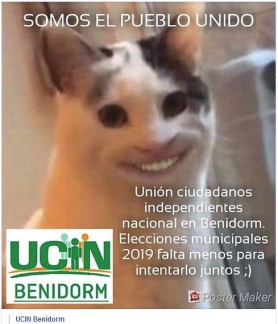 UCIN Benidorm y su cartel de campaña electoral