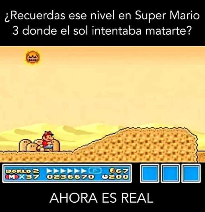 Super Mario 3 y el nivel del sol