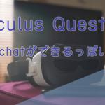 【朗報】Oculus QuestでVRchatができるぞ!【スタンドアロン】
