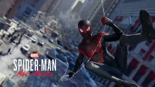 Imagem do jogo Spider-Man: Miles Morales do Playstation 5.