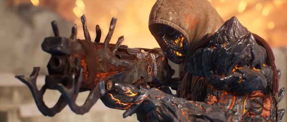 No trailer novo de Outriders vemos variedade de armas e poderes.
