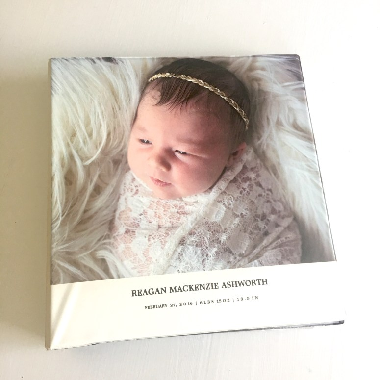 Front Cover of Custom Baby Book