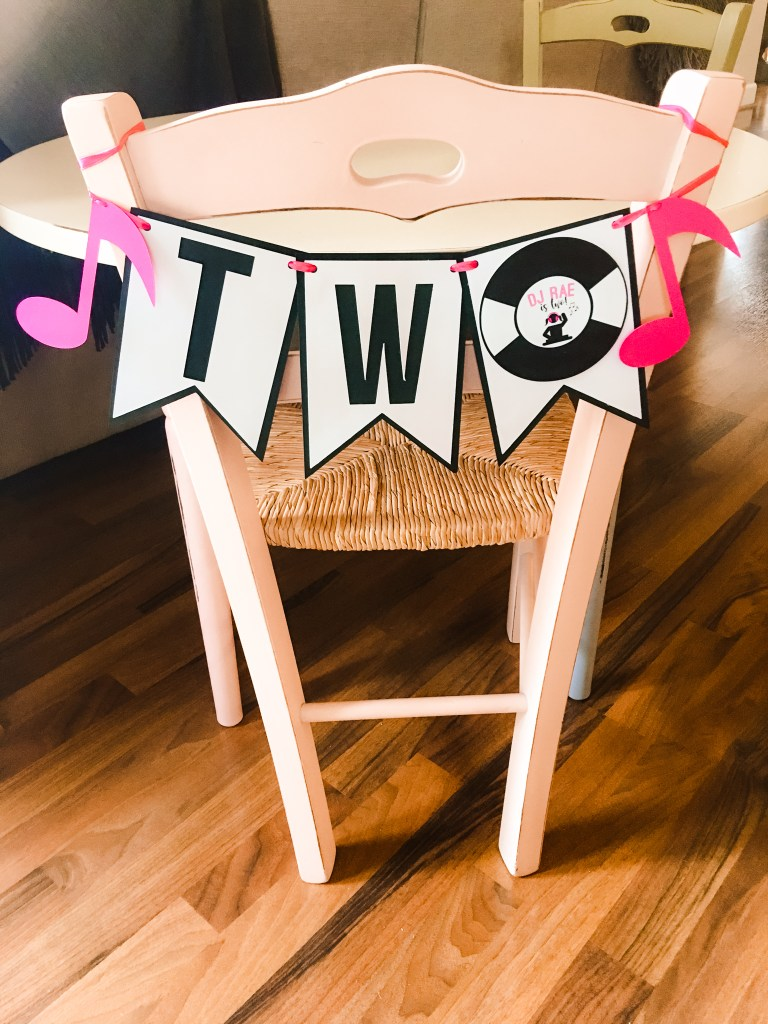 DJ Party High Chair Banner
