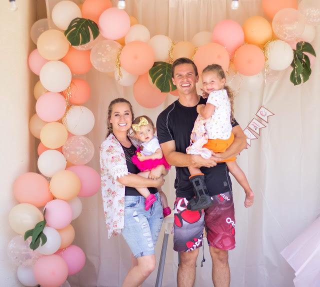 Tropical Party Balloon Arch