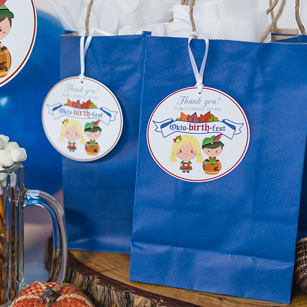 Oktoberfest Birthday Party Favor Tags
