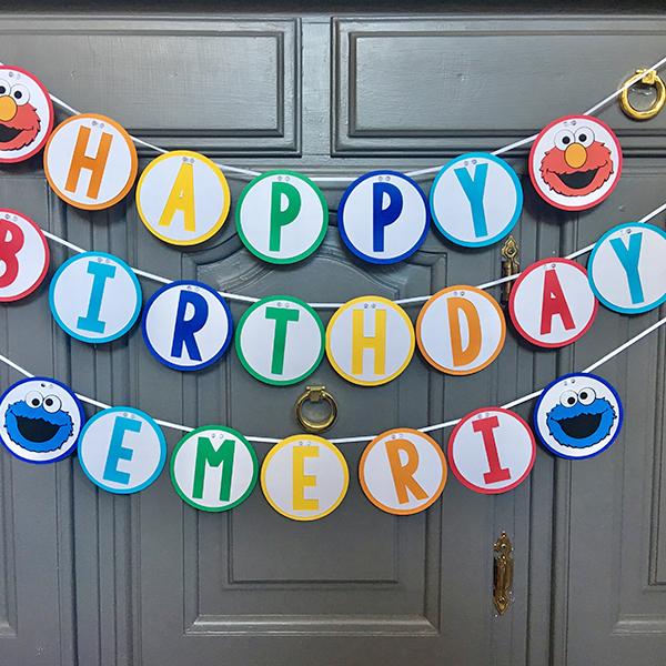 Happy Birthday Name Banner