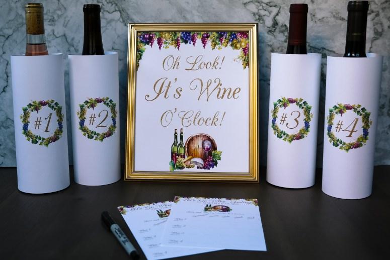 Digital Wine Tasting Party Printables