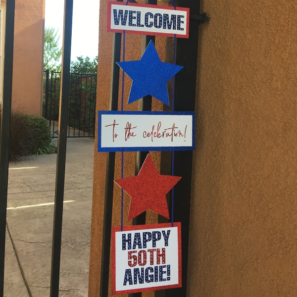 4th Of July Birthday Party Welcome Sign