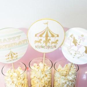 Carousel Birthday Party Centerpiece Sticks