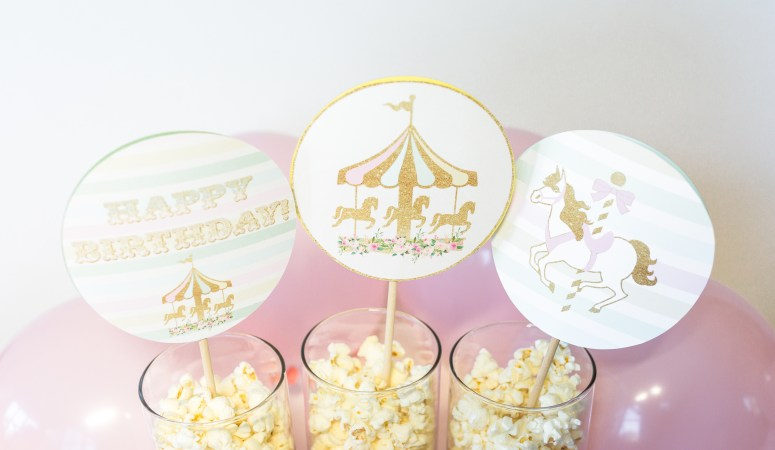 How to Decorate with Printable Carousel Party Decorations