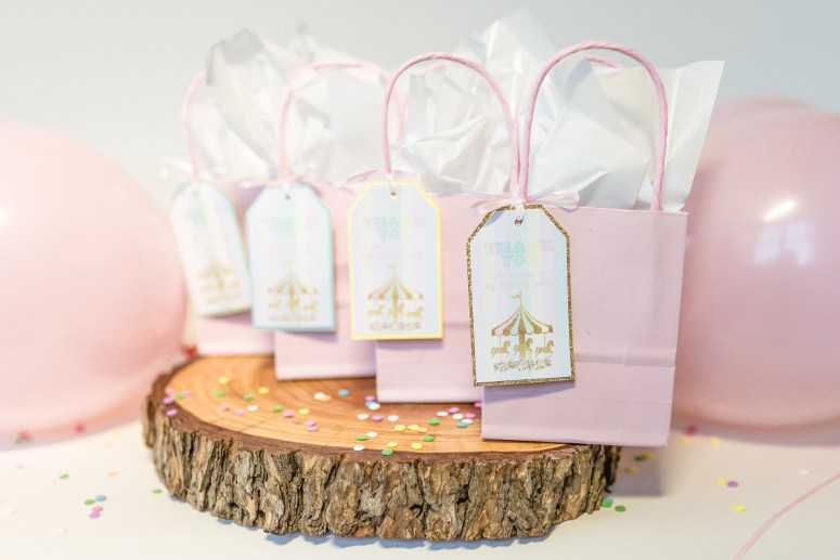 Carousel Birthday Party Favor Tags