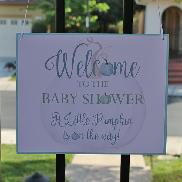 Little Pumpkin Welcome Sign 8 x 10