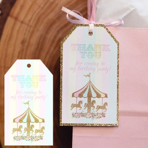 Carousel Party Favor Tags