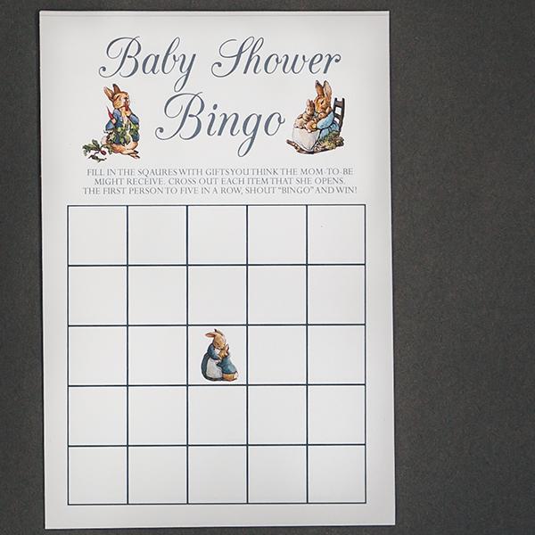 picture regarding Baby Bingo Printable titled Peter Rabbit Child Shower Bingo