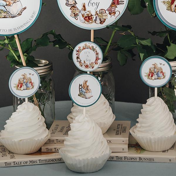 Peter Rabbit Cupcake Toppers