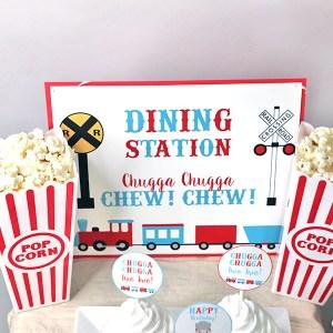 Chugga Chugga Two Two Birthday Party Dining Station Sign