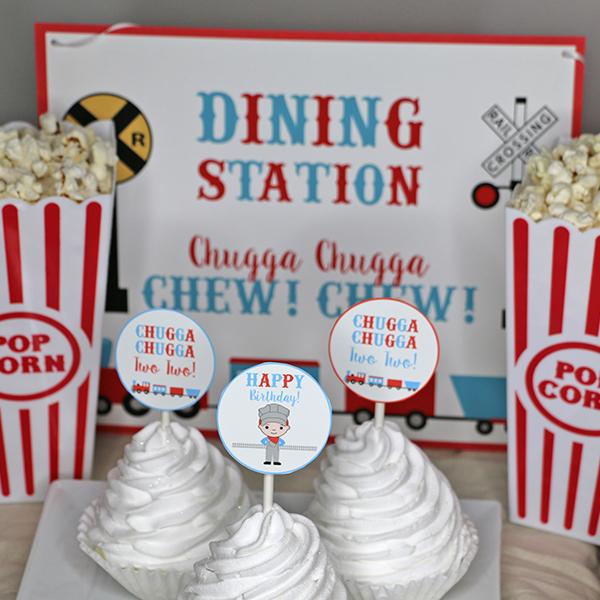Chugga Chugga Two Two Birthday Party Dining Station Signc
