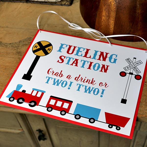 Chugga Chugga Two Two Birthday Party Fueling Station Sign