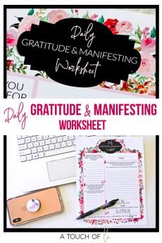 Daily Gratitude and Manifestation Worksheet