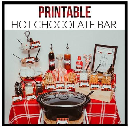 Hot Chocolate Bar Printable