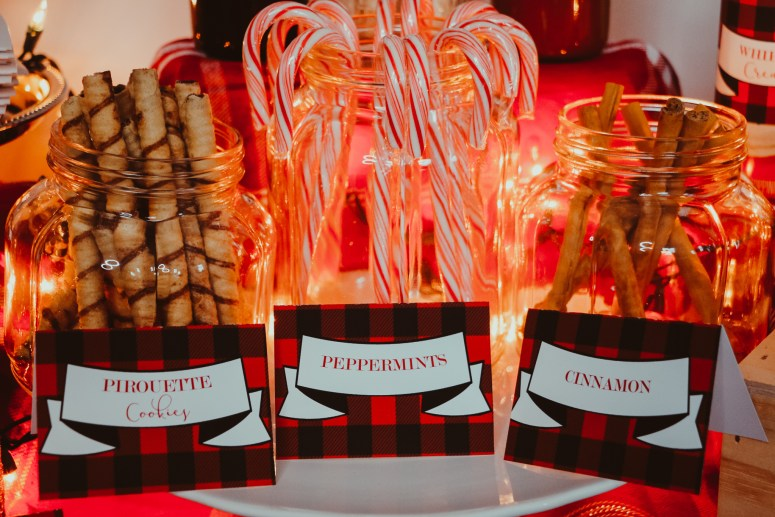 Peppermints and Cinnamon Sticks Labels