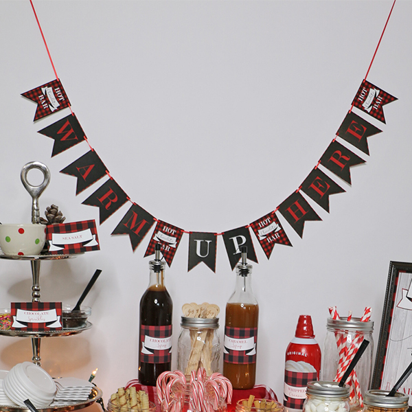 Warm Up Here Banner for Ultimate Hot Chocolate Bar