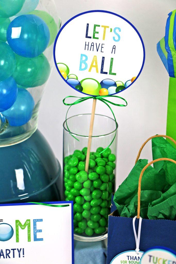 Ball Party Centerpiece Stick