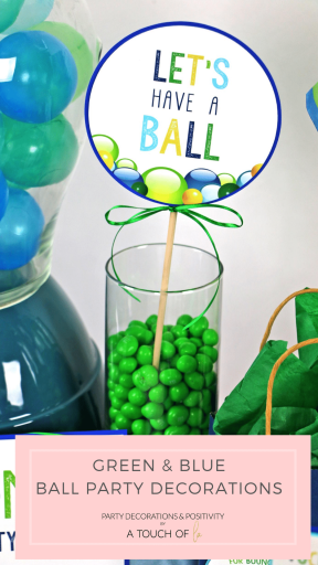 Green and Blue Ball Party Decorations