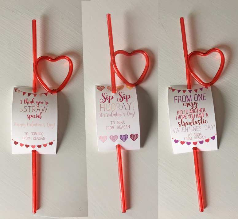 Easy Valentine Ideas : Crazy Straw
