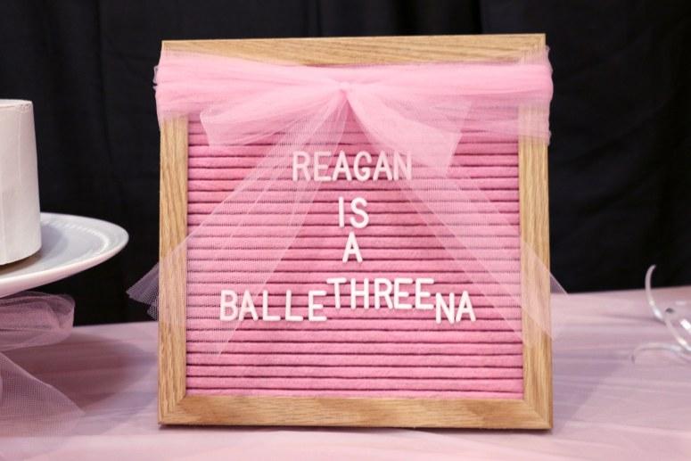 BalleTHREEna Birthday Party Sign