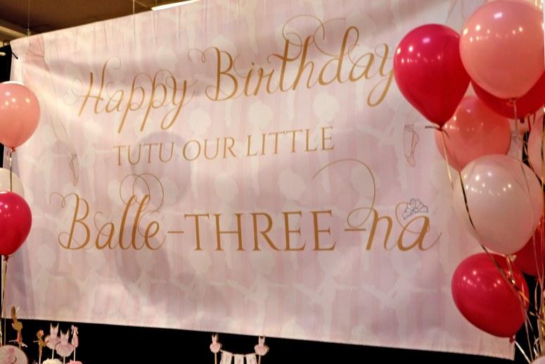 Ballerina Birthday Party Backdrop