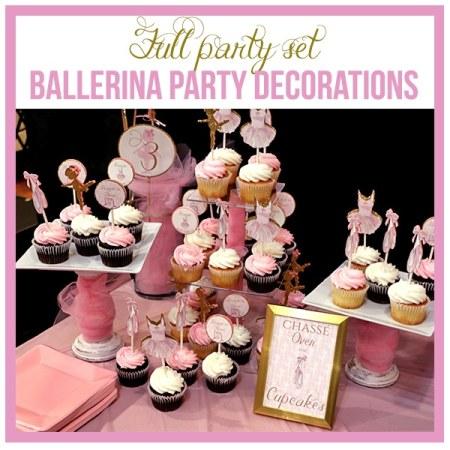 Full Ballerina Party Decorations Set