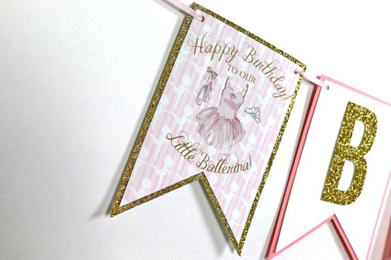 Happy Birthday Ballerina Banner