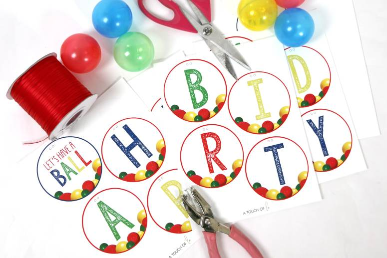 Let's Have A Ball Party Decorations Happy Birthday Banner