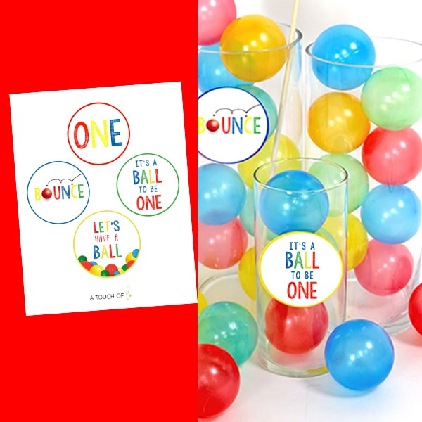 Ball Party 1st Birthday Small Party Circles