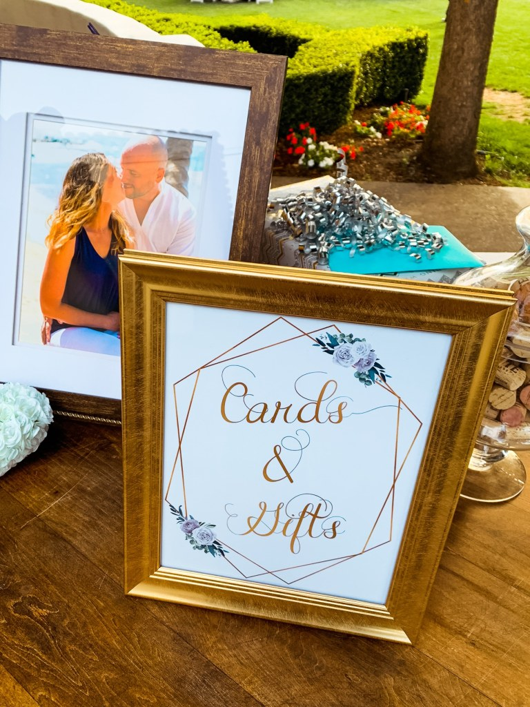 Cards and Gifts sign for Wedding