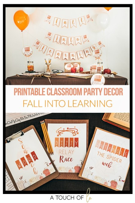 Fall Into Learning Class Party Printables