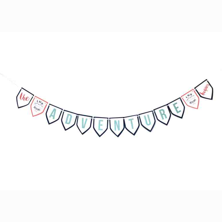 Feminine Adventure Baby Shower Banner