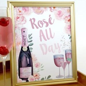 Rose Bridal Shower: Rose All Day Sign
