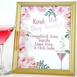 Rosé Bridal Shower: Rosé Signature Drink
