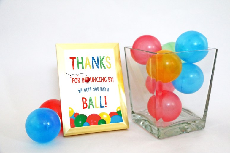 Thanks for Bouncing By 5 x 7 Sign