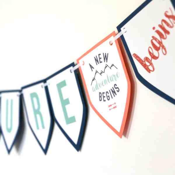 Feminine Adventure Baby Shower Banner