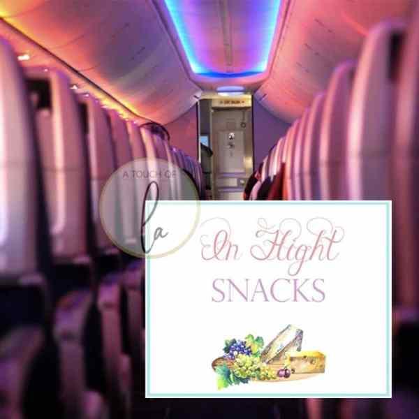 In Flight Snacks Sign