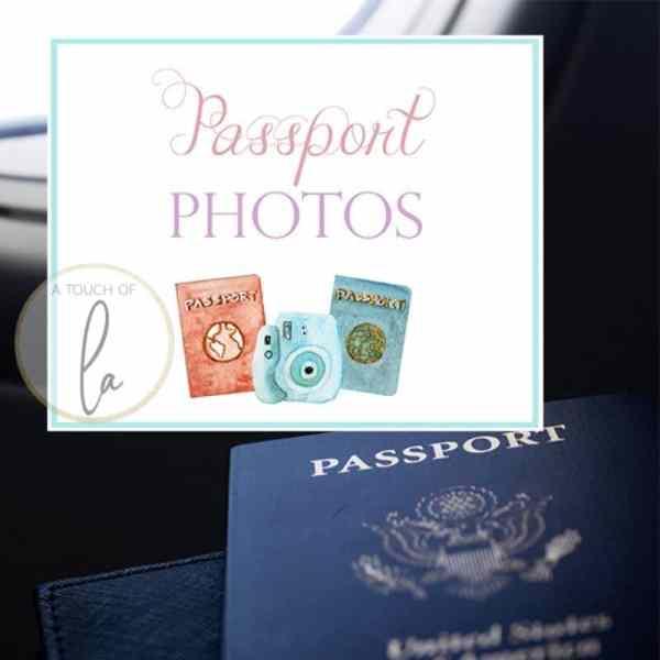 Passport Photos Party Sign