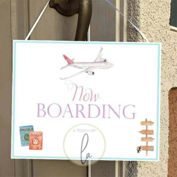Now Boarding Party Sign