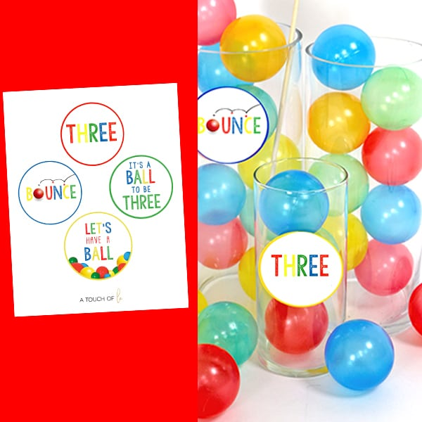 Bouncy Ball Party Decorations: Ball Party Circles