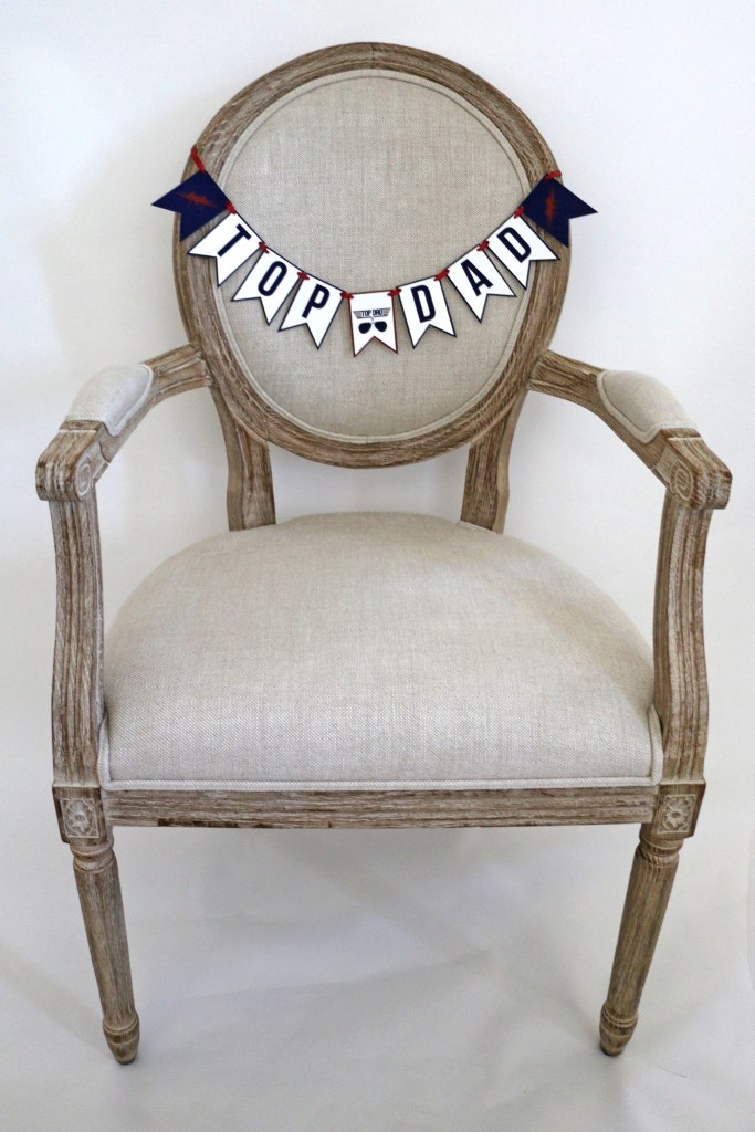 Top Dad Chair Banner for Top Gun Baby Shower